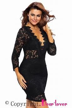 club clothes black lace v neck mini club dress from china