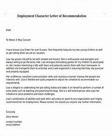 Letter Of Recommendation Moral Character Free 7 Character Letter Of Recommendation In Ms Word Pdf
