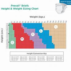 Prevail Size Chart Health Products For You Incontinence Size Charts