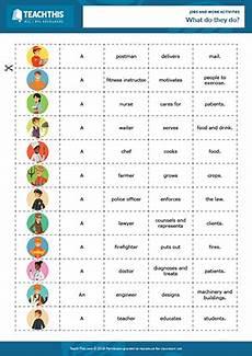Job Club Activities Jobs Work Esl Activities Games Worksheets