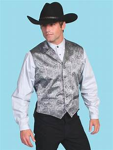 cowboy clothes for s scully 174 mens grey paisley notched formal western vest
