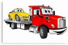 quot tow truck flatbed quot canvas prints by graphxpro