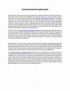 Personal Statement For Graduate School Examples Personal Statement For Graduate School 37
