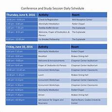Conference Room Schedule Template Daily Schedule Template 39 Free Word Excel Pdf