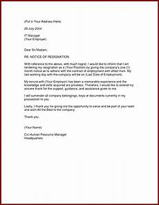 Nanny Resignation Letter Image Result For Formal Resignation Letter 1 Month Notice