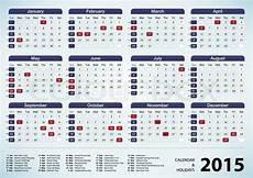 Us Calendars Calendar Amp Holidays Usa 2015 Stock Vector Colourbox