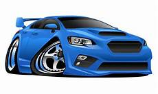 Cartoon Cars Modern Import Sports Car Cartoon Vector Illustration