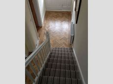 Telenzo Bakerloo Stripe Carpet with Karndean Parquet   Living room hardwood floors, Living room