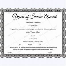 Social Service Certificate Format Years Of Service Award 09 Awards Certificates Template
