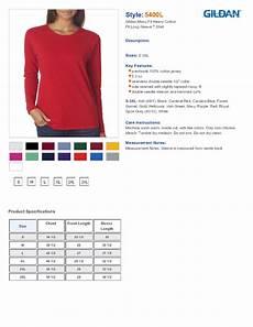 Gildan 5400 Size Chart Gildan 5400l Fit Heavy Cotton Long Sleeve T Shirt