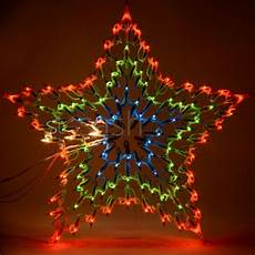 Led Christmas Window Lights Christmas Multi Colour Led Star Silhouette Window
