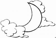 Window Color Malvorlagen Sonne Mond Und Sterne Mond Mit Wolken Ausmalbild Malvorlage Sonne Mond Und