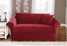 stretch pique three with back cushion sofa slipcover