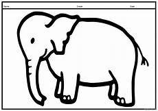a4 size printable elephant coloring pages for