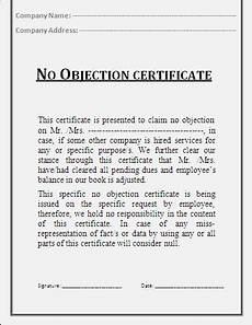 Affidavit For No Objection Certificate No Objection Certificate Template Professional Word