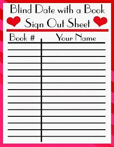 Book Out Sheet Librarian On Display February Blind Date With A Book