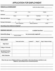 Printable Blank Job Applications 8 Best Images Of Printable Blank Application For