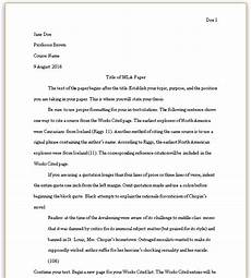 College Mla Format Formatting Your Mla Paper Mla Style Guide 8th Edition