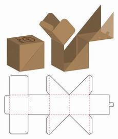 Packing Template Box Packaging Die Cut Template Design Vector Premium