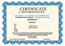 Make A Certificate Of Authenticity Coa Certificate Of Authenticity