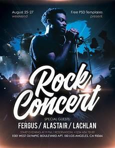 Concert Flyer Psd Rock Concert Event Free Psd Flyer Template Stockpsd