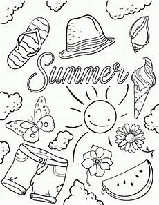 Kostenlose Malvorlagen Sommer 20 Free Printable Summer Coloring Pages