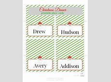 Free Christmas Printable Place Cards   PinkWhen