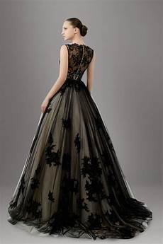 the and sophisticated touches on black wedding gowns