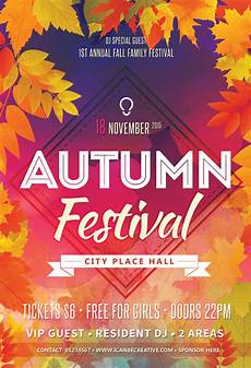 Free Party Flyer Template 30 Premium And Free Fall Festival And Party Flyer Designs