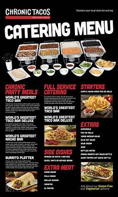 Whole Foods Catering Menu Catering Chronic Tacos Mexican Grill