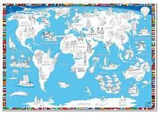 Kinder Malvorlagen Landkarten Welt Malkarte Wandkarte Zum Ausmalen Im Kinderpostershop