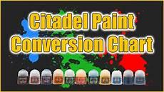 Citadel Paint Conversion Chart 2015 Citadel Paint Conversion Chart Youtube