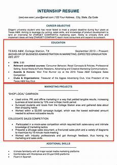 Professional Resume For College Student 17 Best Internship Resume Templates To Download For Free