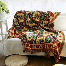 Throws And Blankets For Sofa 3d Image by European Kinited Sided Sunflower Throw Jacquard
