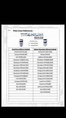 Fuel Filter Crossover Chart A Good Water Separator Chevy And Gmc Duramax Diesel Forum