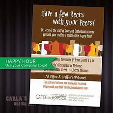 Happy Hour Invite Wording Have A Few Beers With Your Peers Happy Hour Printable Pdf Or