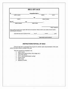 Bill Of Sale Form Download Download Free Bill Of Sale Forms Form Download