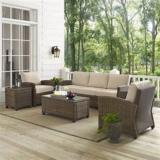crosley furniture bradenton 5 outdoor wicker sofa