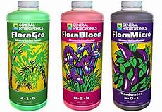 Florabloom Chart General Hydroponics Flora Grow Bloom Micro Combo