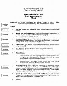 Board Meeting Templates Free Nonprofit Board Meeting Agenda Template 5 Meeting Agenda
