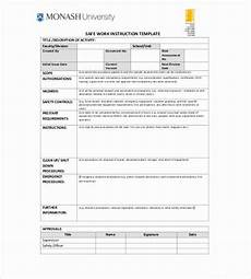 Work Instruction Form Iso Work Instruction Template Luxury Work Instruction