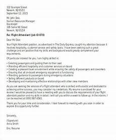 Flight Attendant Cover Letter Samples Flight Attendant Cover Letter 9 Free Word Pdf Format