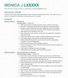 Dietary Aide Resume Dietary Aide Resume Sample Aide Resumes Livecareer