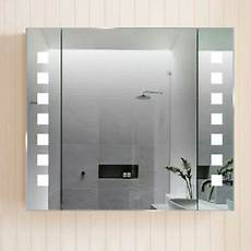Bathroom Mirror Cabinet With Battery Lights Bathroom Leds Mirror Shelves Cabinet With Shaver Socket