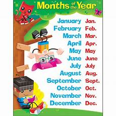 Months Of The Year Blockstars Learning Chart T 38376