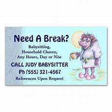 How To Make Babysitting Cards Babysitting Or Household Chores Business Card Zazzle Com