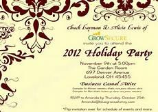 Business Party Invitation Wording Custom Corporate Holiday Party Invitation W Crimson Flourish