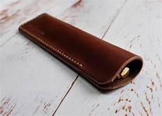 italian leather pen sleeve by hide home