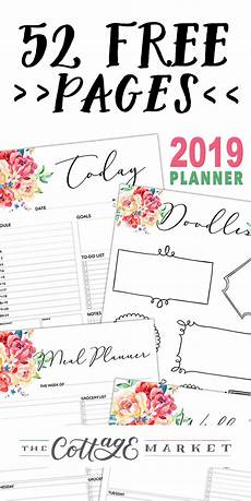 Free Printable Planner Pages 52 Page Free 2019 Planner Printable Planner Pages Free