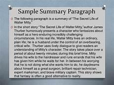 Summary Paragraphs Summarizing